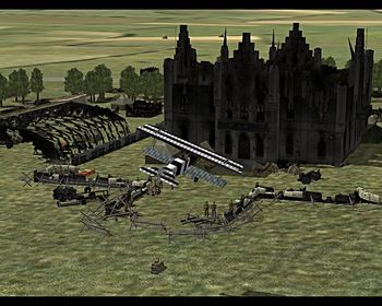 Canvas Knights - Fokker D.VII and Ground Units - Screenshot by EasyRider (17-Mar-2009)