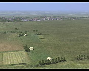 Canvas Knights - Scenery with Airfield and Town - Screenshot by EasyRider (09-Apr-2009)