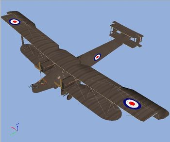 Canvas Knights - Handley Page O400 Bomber 3D Model - Screenshot by Von Deutschmark (12-Mar-2009)