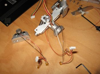 HOTAS Cougar - U2nxt gimbals with hall sensor kit +HS2 mounted - Picture by Gremlin (09-May-2009)