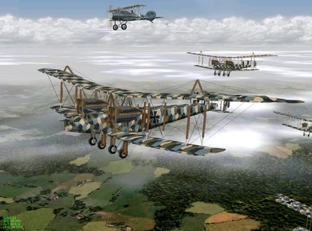 EAW The Western Front - Handley Page Bombers - Screenshot by Col. Gibbon (14-Aug-2009)