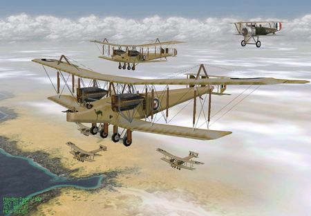 EAW The Western Front - Handley Page Bombers over the desert - Screenshot by Col. Gibbon (14-Aug-2009)