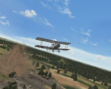 Over Flanders Fields (Phase 3) - The Kaiser's Tree is Kaput ;o) - Screenshot by Jim Miller (22-Jul-2009)