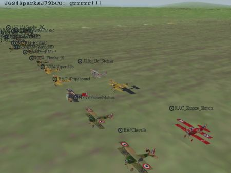 Red Baron II/3D - SpeedCup III Starting Line-Up - Screenshot by REBS_Arland (25-Nov-2001)