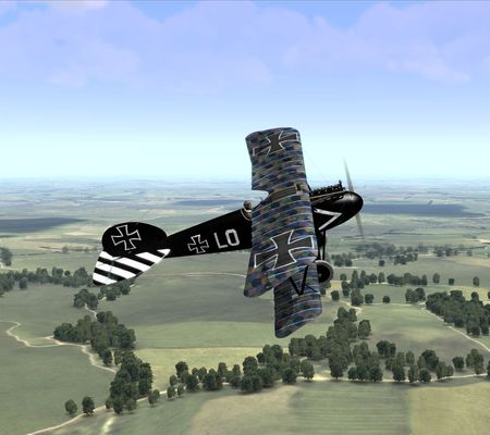 Rise Of Flight - Ernst Udet's Albatros D.Va in early 1918 - Skin and Screenshot by yofloema (27-Aug-2009)