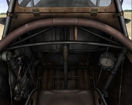 Rise Of Flight - Nieuport 17 (Russian made) cockpit - Screenshot by Gr.Viper (08-May-2009)
