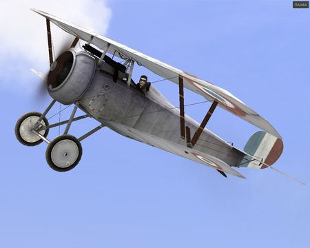 Rise Of Flight - Nieuport 17 (Russian made) in flight - Screenshot by Gr.Viper (08-May-2009)