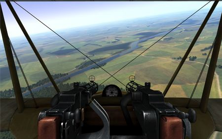 Rise Of Flight - Fokker Dr.I and New Summer Terrain - screenshot by Gremlin (30-Oct-2009)