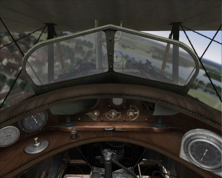 Rise Of Flight - Depth Of Field (DOF) effect with focus on cockpit - Screenshot by Unknown (08-May-2009)