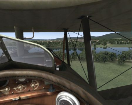 Rise Of Flight - Depth Of Field (DOF) effect with focus on scenery - Screenshot by Gr.Viper (08-May-2009)