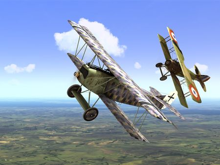 Rise Of Flight - Fokker D.VII and SPAD XIII - Screenshot by neoqb (25-Jul-2009)