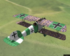 Rise Of Flight - Helmuth Dilthey's Albatros D.Va in 1918 - Skin and Screenshot by Unknown Author (11-Aug-2009)