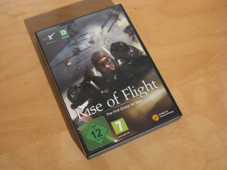 Rise Of Flight - German Release 1.007 Box Front Cover - picture taken by Gremlin (22-Oct-2009)