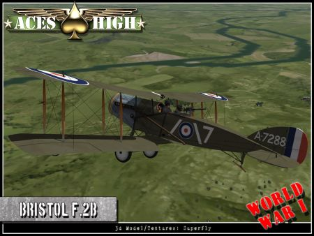 Aces High - WIP Bristol F2.B - Screenshot by HiTech Creations (01-Feb-2010)
