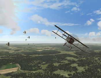 Phase 3 - SPAD XIII in front of a dogfight - Screenshot by Makai (03-Nov-2008)