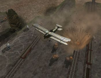 Phase 3 - A Hannover CL.III dropping bombs - Screenshot by Makai (04-Nov-2008)