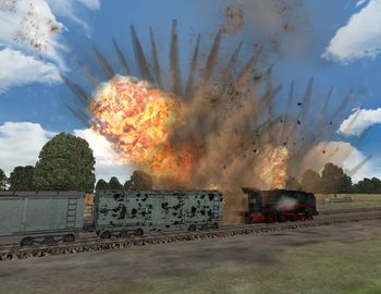Phase 3 - Attack on a train - Screenshot by Makai (04-Nov-2008)