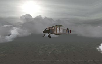 Phase 3 - A F.E.2b during dawn - Screenshot by Polovski (Nov-2008)