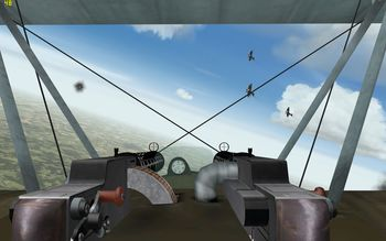 Phase 3 V1.30 - Fokker Dr.I encounters three Sopwith Camels - Screenshot by Gremlin (05-Apr-2009)