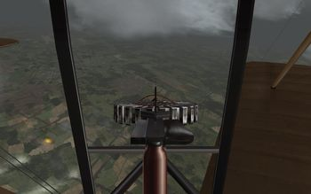 Phase 3 V1.30 - Rear gunner view of the Sopwith Strutter 1 1/2 Two-Seater - Screenshot by Gremlin (05-Apr-2009)