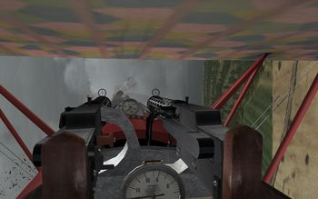 Phase 3 V1.30 - Fokker D.VII hunting a SPAD XIII - Screenshot by Gremlin (06-Apr-2009)