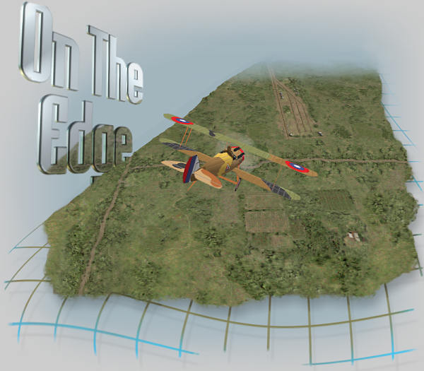 Red Baron 3D - On The Edge Logo