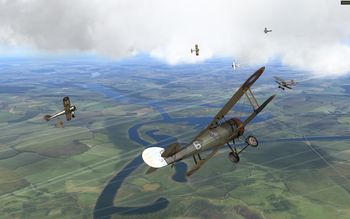 Rise Of Flight - Dogfight with tracers - Screenshot by neoqb (24-Mar-2009)