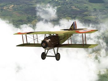 RoF - SPAD XIII above the clouds - Screenshot by neoqb (2009)