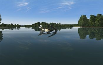 Rise Of Flight - Floating plane in river - Screenshot by Gremlin (26-Dec-2009)