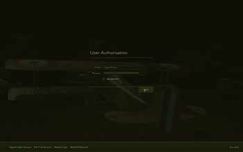 Rise Of Flight - Login Screen - Screenshot by Gremlin (28-Dec-2009)
