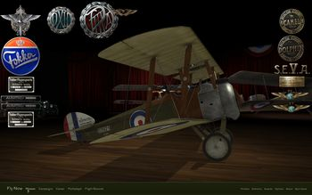 Rise Of Flight - Sopwith Camel F.I model in main menu - Screenshot by Gremlin (13-Feb-2010)
