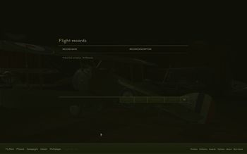 Rise Of Flight - Flight Records menu - Screenshot by Gremlin (13-Feb-2010)