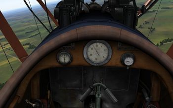 Rise Of Flight - Pfalz D.III cockpit - Screenshot by Gremlin (22-Feb-2010)