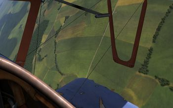 Rise Of Flight - Pfalz D.III with broken lower wing - Screenshot by Gremlin (22-Feb-2010)