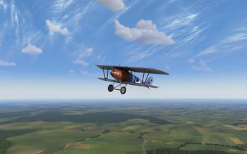 Rise Of Flight - Pfalz D.III and French landscape - Screenshot by Gremlin (22-Feb-2010)