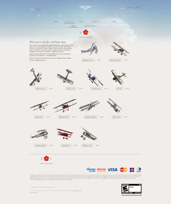 Rise Of Flight - Plane selection in RoF Online Store - Screenshot by Gremlin (28-Feb-2010)