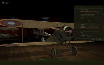 Rise Of Flight - Hangar: plane settings - Screenshot by Gremlin (28-Feb-2010)