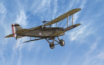 Rise Of Flight - Royal Aircraft Factory SE.5a with bombs - Screenshot by Gremlin (28-Feb-2010)