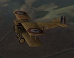 Plane Texture for SPAD S.XIII of Escadrille SPA 48 flown by French pilot Adj. Jacques Roques