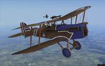 Plane Texture for SE.5a of 60 Squadron RFC flown by Canadian ace Billy Bishop