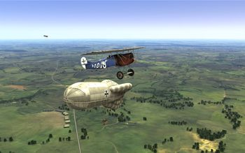 Rise Of Flight - Fokker D.VII and Balloon - Screenshot by neoqb (26-Aug-2009)